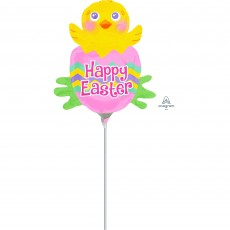 Mini Spring Chick Happy Easter Shaped Balloon