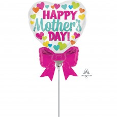 Mother's Day & Bow Mini Shaped Balloon