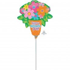Bright Flowers Mini Happy Mother's Day Shaped Balloon