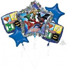 Justice League Bouquet Foil Balloons Pack of 5