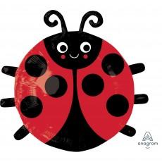 Ladybug Fancy Party Decorations - Shaped Balloon JuniorXL Happy Ladybug