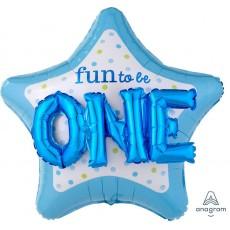 Star Boy's 1st Birthday Multi-Balloon Fun to be ONE Shaped Balloon 91cm