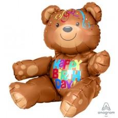 Bear CI: Multi-Balloon Happy Birthday! Shaped Balloon 48cm x 43cm