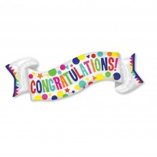 Congratulations SuperShape Banner Shaped Balloon