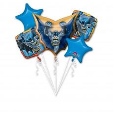 Blue Batman Bouquet Foil Balloons Pack of 5