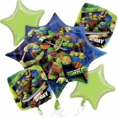 Teenage Mutant Ninja Turtles Bouquet Foil Balloons Pack of 5