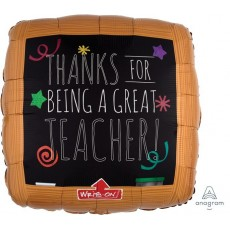 Chalkboard Black Board Foil Balloon