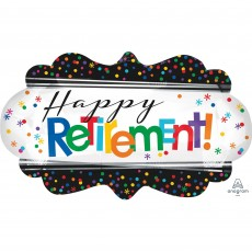Retirement SuperShape Officially Retired Shaped Balloon