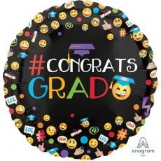 Graduation Emoji Smiley Faces Foil Balloon