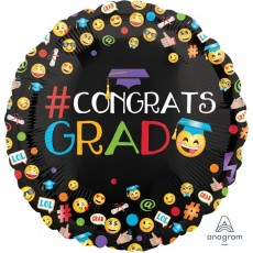 Graduation Standard HX Awesome Emoticons Foil Balloon
