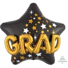 Star Graduation Mutli-Balloon GRAD Shaped Balloon 91cm