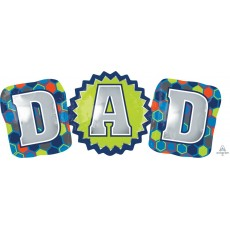 Father's Day SuperShape XL DAD Shaped Balloon 93cm x 38cm