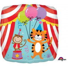 Big Top Circus Tent & Animals Foil Balloon
