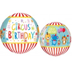 Big Top Circus Birthday 2 Sided Design Shaped Balloon
