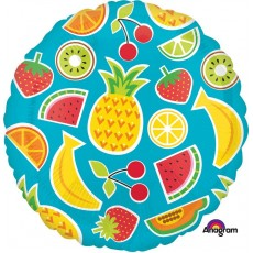 Hawaiian Luau Tropical Fruits Standard HX Foil Balloon