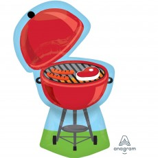 Red SuperShape XL  Grill BBQ Shaped Balloon