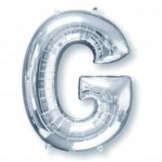 Letter G Silver Helium Saver Foil Balloon