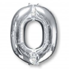 Letter O Silver SuperShape Shaped Balloon