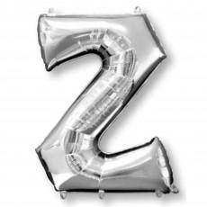 Silver Letter Z SuperShape Shaped Balloon 86cm