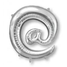Silver at Symbol SuperShape Shaped Balloon 86cm