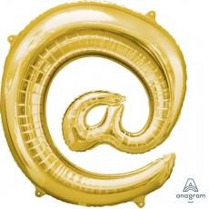 Gold at Symbol SuperShape Shaped Balloon 86cm
