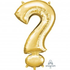 Question Mark Symbol Gold Helium Saver Foil Balloon