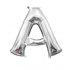 Silver CI: Letter A Shaped Balloon 40cm