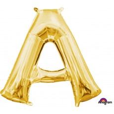 Letter A Gold CI: Shaped Balloon