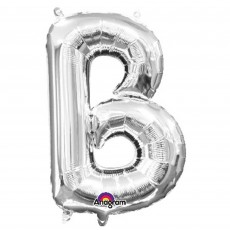Letter B Silver Megaloon Megaloon Foil Balloon