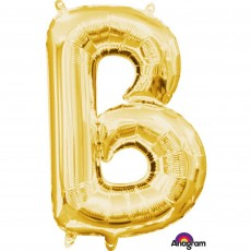 Letter B Gold CI: Shaped Balloon