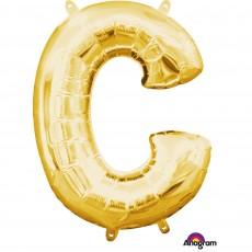 Gold CI: Letter C Shaped Balloon 40cm