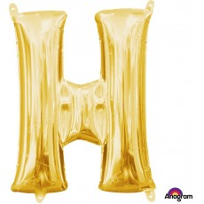 Letter H Gold CI: Shaped Balloon