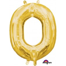Letter O Gold CI: Shaped Balloon
