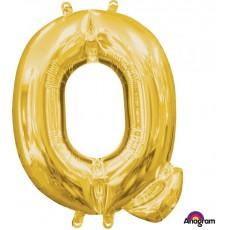 Gold CI: Letter Q Shaped Balloon 40cm