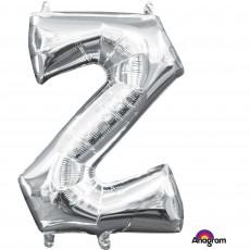 Letter Z Silver CI: Shaped Balloon