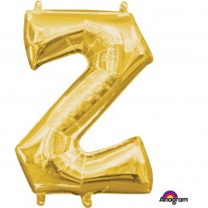 Letter Z Gold CI: Shaped Balloon