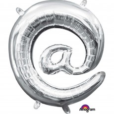 at Symbol Silver  Foil Balloon