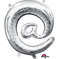 Silver at Symbol CI: @ Shaped Balloon 40cm