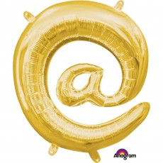 Gold at Symbol CI: @ Shaped Balloon 40cm