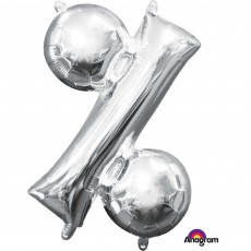 Percentage Symbol Silver CI: Shaped Balloon