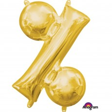 Gold Percentage Symbol CI: % Shaped Balloon 40cm