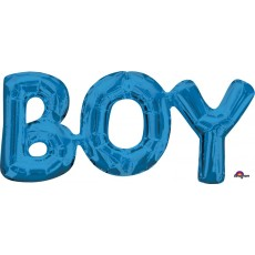 Blue Baby Shower - General CI: Phrases BOY Shaped Balloon 55cm x 25cm