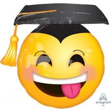 Graduation SuperShape Awesome Grad Face & Cap Shaped Balloon