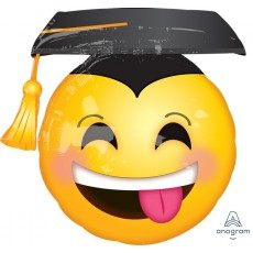 Graduation SuperShape XL Awesome Grad Face & Cap Shaped Balloon