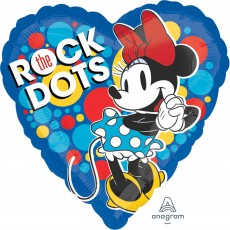 Minnie Mouse Standard HX Rock the Dots Shaped Balloon