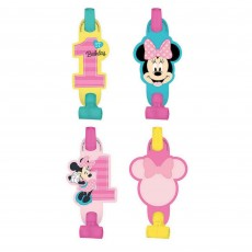 Minnie Mouse 1st Birthday Fun To Be One Blowouts 13cm Pack of 8