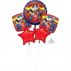 Super Hero Girls Party Decorations - Foil Balloons Bouquet