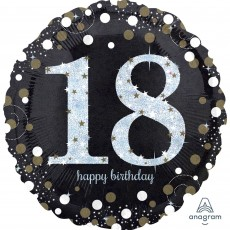 18th Birthday Sparkling Celebration Standard Holographic Foil Balloon