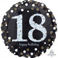 18th Birthday Sparkling Foil Balloon