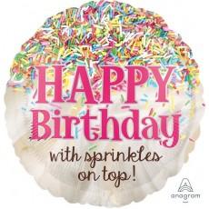 Happy Birthday Standard HX Foil Balloon